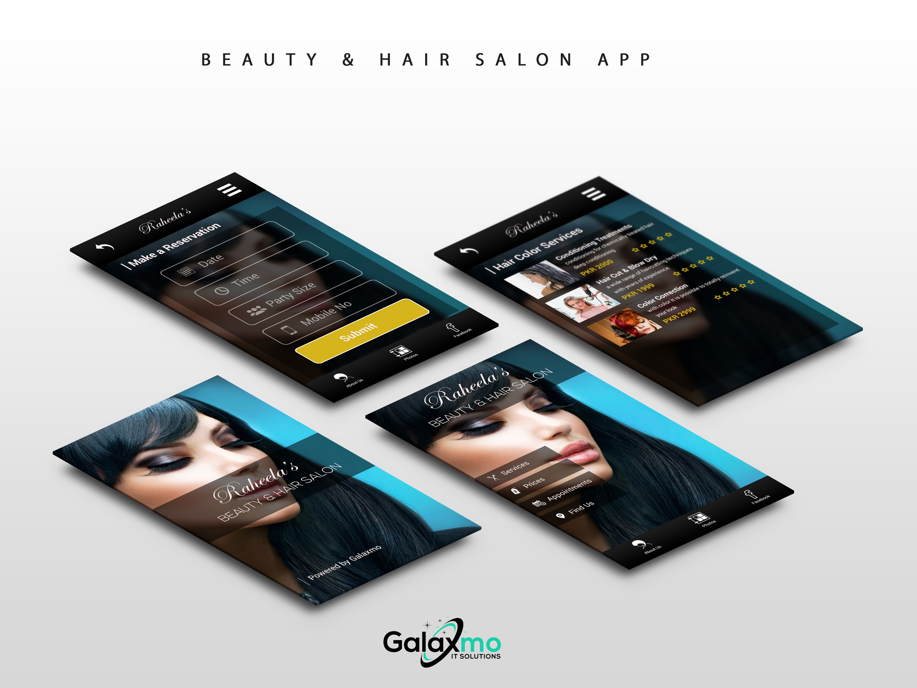 Beauty And Hair Salon App Design Galaxmo It Solutions